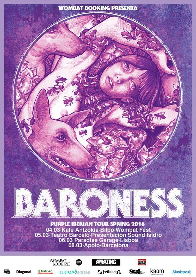Cartel Baroness Purple Iberian Tour